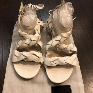 White Dolce Vita Braided Sandals Women Size 7